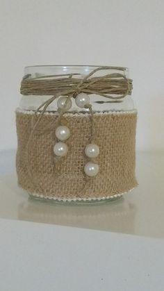 Jam Jar Crafts, Tin Can Crafts, Glass Bottle Crafts, Diy Bottle, Diy Yankee Candle Jars, Pot Mason Diy, Lavender Crafts, Recycled Tin Cans, Dollar Store Crafts