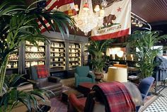Hollister style decor ~ how I want the man cave to feel Estilo Hollister, Hollister Store, Exterior Design, Interior And Exterior, Store Window Displays, Restaurant Concept, British Colonial, Shop Interiors, House Layouts