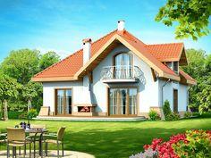 DOM.PL™ - Projekt domu DN Xara CE - DOM PC1-21 - gotowy koszt budowy Malm, Classic House, Home Fashion, House Plans, 21st, Cabin, How To Plan, House Styles, Home Decor