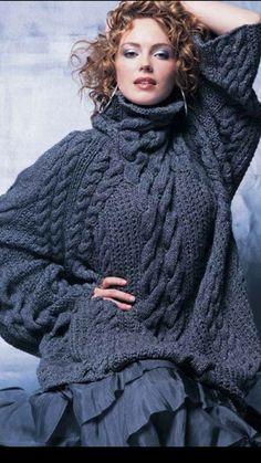 Oversize pullover stricken