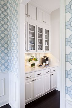 Liking the idea of a passthrough butler's pantry...for bar/espresso machine/wine refrigerator.                                                                                                                                                      More