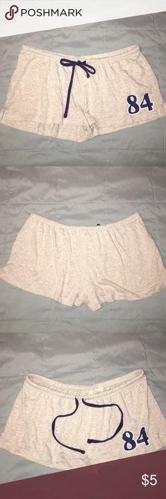 Gray and navy blue shorts / lounge Gray and navy blue shorts / lounge in excellent condition  bundle and save  Shorts