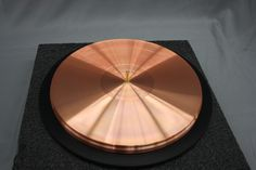 World's second largest pure Copper Turntable Platter, 40 Lbs on the GEM Rim Drive Turntable. The largest copper platter in the world is on the MOMENTUS Turntable and weighs in at 90 Lbs.