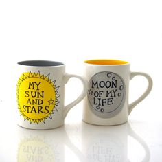 Game of Thrones Mug Set Moon of my Life, My Sun and Stars Set of two mugs couples' mugs Need a gift that will make a couple feel like royalty? This handcrafted