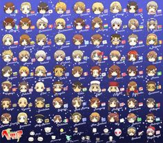 Hetalia's characters in a single picture. All of #Hetalia