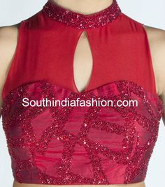 Sequins High Neck Blouse Blouse Designs High Neck, High Collar Blouse, Bridal Photography, Front Design, Sequins, Tank Tops, Formal Dresses, Stylish, Women