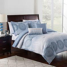 Charlee 4-Piece Twin Comforter Set in Cornflower Blue