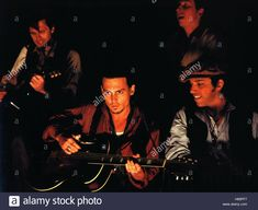 Download this stock image: Chocolat, (CHOCOLAT) GB-USA 2000, Regie: Lasse Hallström, JOHNNY DEPP, Stichwort: Musiker, Gitarre - H89PF7 from Alamy's library of millions of high resolution stock photos, illustrations and vectors: image 27: Alamy and i think, pin 21! Johnny Depp, Vectors, Scene, Illustrations, Stock Photos, Usa, Image, Movie Posters, Guitar