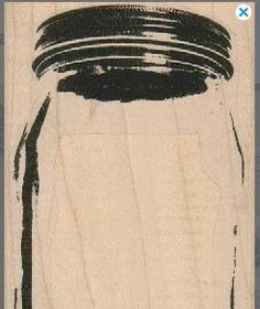 New to pinkflamingo61 on Etsy: rubber stamp Mason Jar Large glass jar  with lid rubber  stamp stamping craft supplies scrapbooking18957 (6.45 USD)