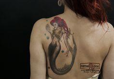 mermeid tattoo colorful