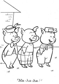 Pattern Coloring Pages, Colouring Pages, Coloring Pages For Kids, Colegio Ideas, Pig Illustration, English Activities, Three Little Pigs, Humpty Dumpty, Color Stories