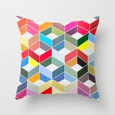 Myriad 01. Throw Pillow by Three Of The Possessed - $20.00