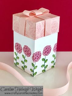 CraftyCarolineCreates: Happy Birthday Gorgeous Gift Box - Video Tutorial with New Stampin' Up products