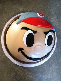 Brutus Ohio State Buckeye cake
