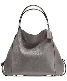 8652e3776 Image 1 of COACH Edie Shoulder Bag 42 In Mixed Leathers Cuero Metalizado