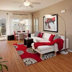 Bon Το Κόκκινο Χρώμα Στη Διακόσμηση Του Σπιτιού / Red Interior Design · Red  Living RoomsLiving ...