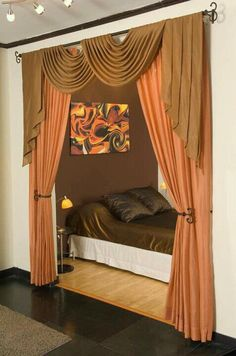 Blog separar ambientes sin paredes on pinterest curtain for Cortinas para recamara