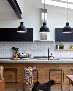 This kitchen is all kinds of beautiful - homeowners Claire and Kris enlisted the…
