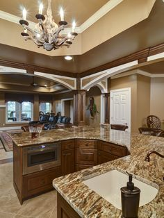 Basement Design, Pictures, Remodel, Decor and Ideas - page 36. Architecture love here. Color also.....and check out that chandelier.