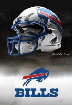 Buffalo Bills helmet Charles Sollars concept
