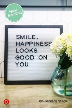 Get stylish letter boards to spell out your mantra or a funny/inspirational quote that moves you.