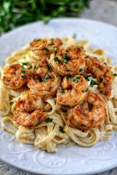 Cajun Shrimp Fettuccine Alfredo - The ingredients and how to make it please visit the website. Recipes Cajun Shrimp Fettuccine Alfredo - The ingredients and how to make it please visit the website. Cajun Shrimp Fettuccine Alfredo Recipe, Sauce Alfredo, Fettuccine Recipes, Pesto Shrimp, Fettuccine Pasta, Cajun Shrimp Pasta, Chicken Alfredo, Recipes With Alfredo Sauce, Shrimp In Garlic Sauce