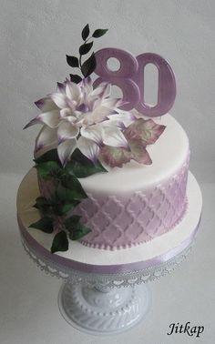 Narozeninový s květem jiřiny - Cake by Jitkap