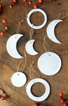 You're going to love the simplicity of these DIY moon phase clay ornaments. They are so easy to make, and the shapes are gorgeous – modern and beautiful.