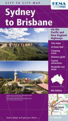 Sydney to Brisbane, Australia by Hema Maps