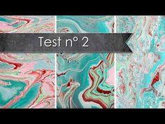 Test Acrylic pouring, sans médium, sans silicone..... - YouTube