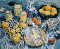 Lemon Curd (pastel on paper) Wall Art & Canvas Prints by Felicity House