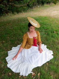 historical sewing tutorial How to turn a straw sunhat into an 18th century bergére