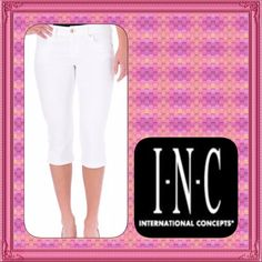 1HR SALE WAS $35 NWT INC White Jeans Cropped10 $70 INC International Concepts is classic, versatile fashion for men and women. Affordable quality professional and casual wardrobe wear. INC Size: 10 Color: White Retail: $69.50 Condition: New with tags Style Type: Capri, Cropped Collection: INC Denim Waist Across: 16 1/2 Inches Inseam: 17 1/2 Inches Rise: 9 Inches Bottom Rise: Classic Denim Wash: White Pocket Style: Five-Pocket Material: 99% Cotton/1% Spandex Fabric Type: Cotton Specialty…