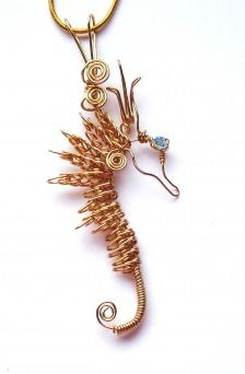Sea horse saftey pins and beads