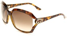Gucci Women's 3110/S Rectangle Sunglasses,Havana Frame/Brown & Grey Gradient Lens,One Size Gucci,http://www.amazon.com/dp/B0033U1OTU/ref=cm_sw_r_pi_dp_GM0NrbAE621743BE