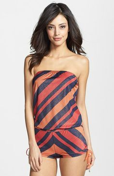 3f5a1b77901c MARC BY MARC JACOBS  Cory Stripe  Bandeau Cover-Up Romper available at