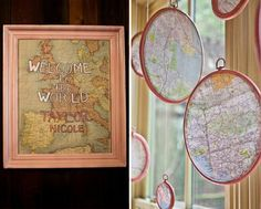 A Vintage Map Baby Shower