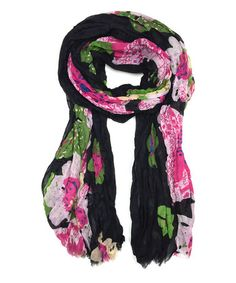 This Green & Pink Floral Scarf by East Cloud is perfect! #zulilyfinds