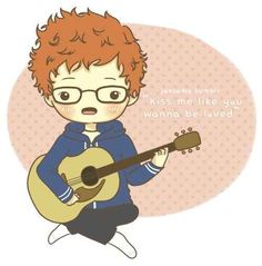 21 Pieces Of Ed Sheeran Fan Art That Are Actually Amazing Kiss Me Ed Sheeran, Ed Sheeran Love, Anime Love, Ginger Kids, One Direction Cartoons, Gossip Girl Quotes, Pokemon, Celebrity Drawings, Lego House