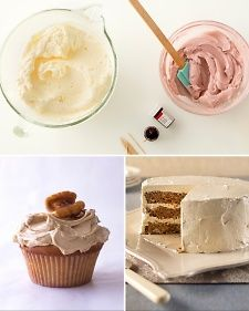 Skip the store-bought frosting and instead whip up a simple buttercream frosting for your next cake. You probably have everything you need to make buttercream frosting, consisting of basic ingredients like butter and confectioners' sugar, on hand. Buttercream frosting is even a great option for cupcakes.