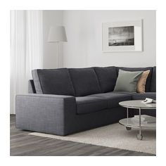 KIVIK Corner sofa 2+2 with chaise longue - Hillared anthracite - IKEA