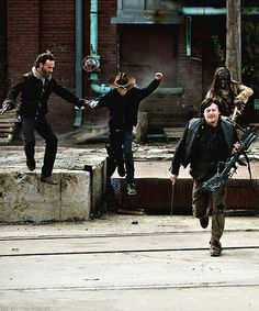 After realizing Terminus is not a good place the four group members try to escape.