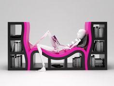 Fajny ten regasł, tylko co znim zrobić jak czytniki (Kindle,itp) wygrają ;)  (Bookshelves ideas from Katz)