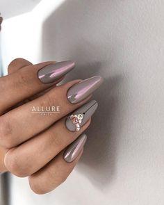 and Beautiful Nail Art Designs Gradient Nails, Rainbow Nails, Glam Nails, Cute Nails, Nail Art Printer, Almond Nail Art, Studded Nails, Swarovski Nails, Nagel Gel