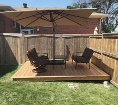 How to Build a Floating Deck | Floating deck, Decking and Building