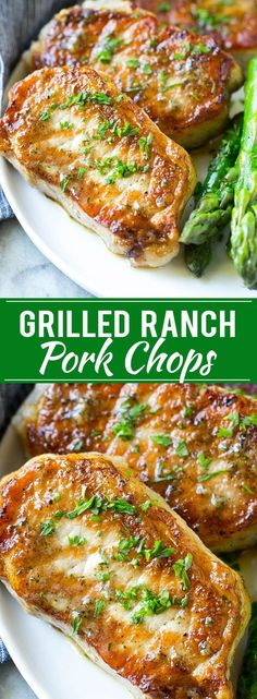 The easiest grilled ranch pork chops.