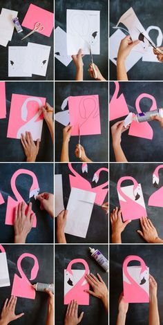For the Flamingo Party this week, our stylist Irene felt inspired by this Kate Spade purse and decided to whip up a a paper version. We've included the flamingo template below so that they're even eas Flamingo Craft, Pink Flamingo Party, Flamingo Gifts, Flamingo Birthday, Pink Flamingos, Birthday Diy, Birthday Parties, Happy Birthday, Birthday Ideas