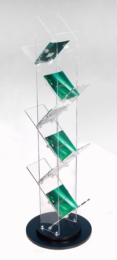 Zig Zag Brochure Display Stand. Attractive literature stand is lightweight and durable making an eye catching stylish display. Ideal for displaying brochures in an exhibition or retail environment.