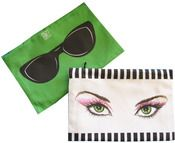 """I see you! 5"""" x 8"""" Satin Lined Sunglass Pouch! #Watercolors #EmeraldGreen #Sunglasses"""