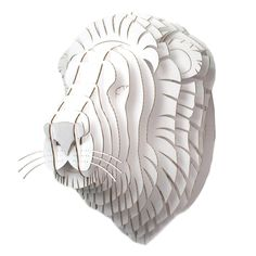 to go with my many cardboard trophy heads at home....I'm now an african hunter. Giant Leon Lion Trophy White by Cardboard Safari